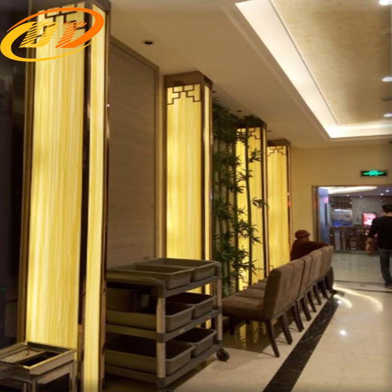 江苏盐城透光石厂家 玉石板 云石板 电视背景墙 玄关背景  灯片