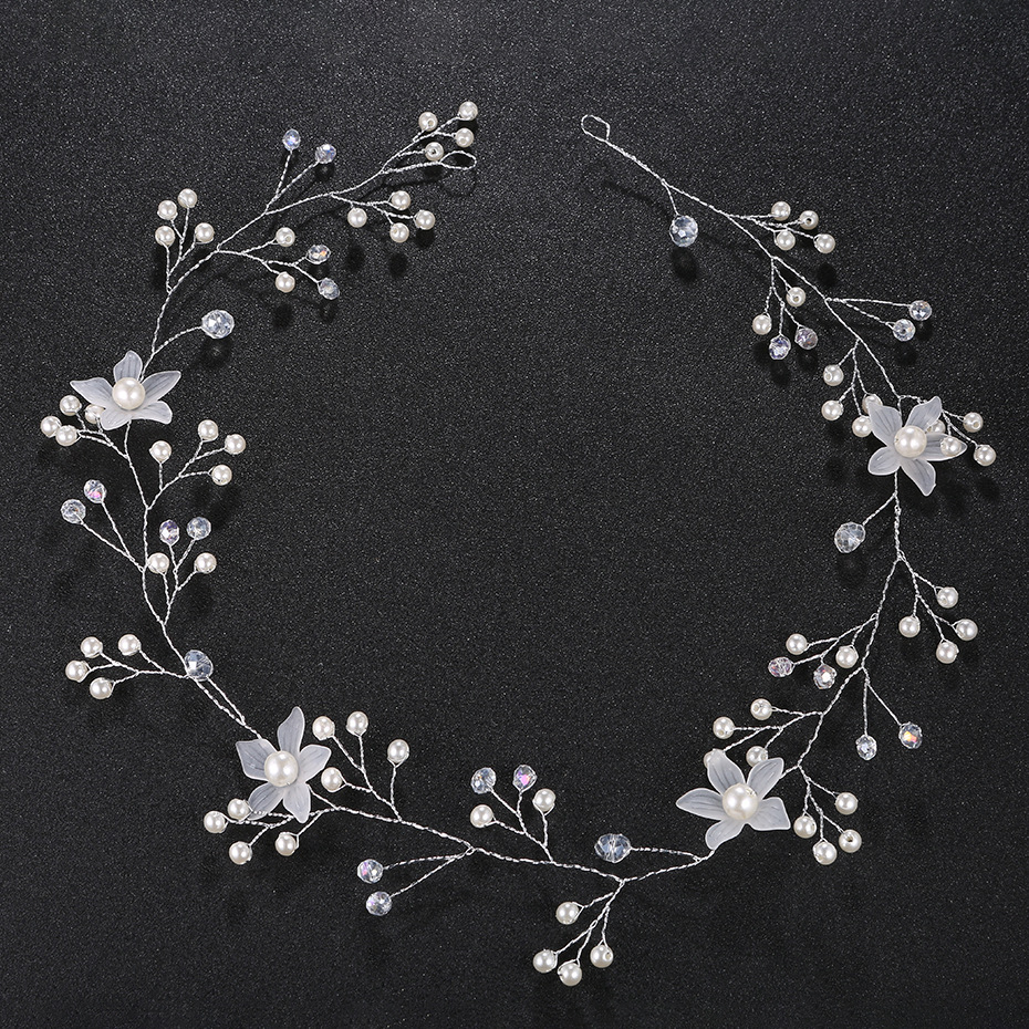 Handmade Pearl Shell Flower Bride Beach Wedding Jewelry Hairband Dress Accessories NHHS256501