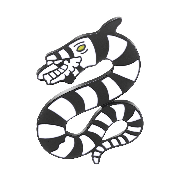 new style brooch personality evil rattlesnake punk brooch unisex clothing accessories bag accessories wholesale nihaojewelry NHMO223887