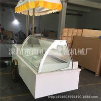 Прозрачный витринный шкаф для мороженого Морозильник с морозильной камерой с воздушным охлаждением