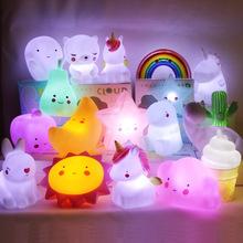 ins爆款太阳月亮星星独角兽小夜灯儿童发光玩具卧室起床灯LED灯