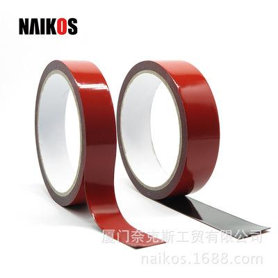 奈克斯汽车红膜亚克力双面胶 丙烯酸泡棉胶带vhb泡棉胶带厂家定制