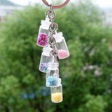 青歌原創手工皮塞玻璃瓶迷你瓶手機掛件透明項鏈瓶幸運許愿吊墜瓶