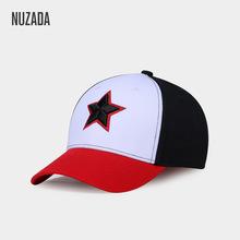 NUZADA刺绣撞色棒球帽?#20449;?#22763;鸭舌帽?#21512;?#27431;美百搭运动棉质嘻哈帽