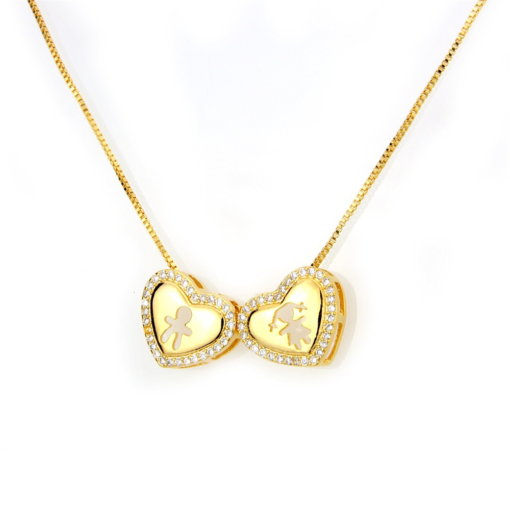 Copper Fashion Sweetheart necklace  (Alloy-plated male) NHBP0267-Alloy-plated-male