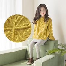 女童毛衣套頭2019秋冬新款兒童針織打底衫純棉寶寶大童裝外套加厚