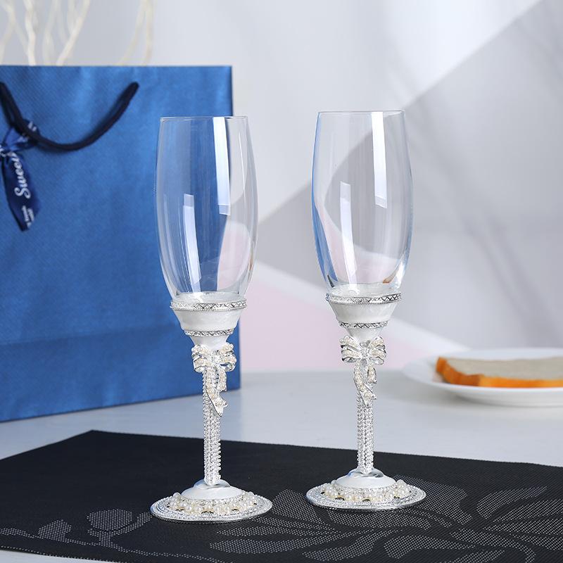 2020新款创意香槟杯珐琅杯 葡萄酒杯水晶玻璃香槟杯个性礼品
