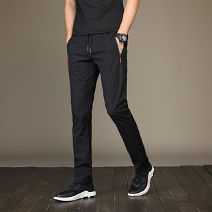 2019 spring new men's pants Korean version of the trend of men's trousers casual pants small feet youth slim casual pants trend