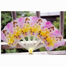 七折卡通儿童小扇子批发  可爱折叠塑料扇广告扇