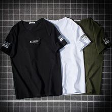2020日系男裝新款夏季男式t恤 短袖體恤修身潮流男士半袖衣服