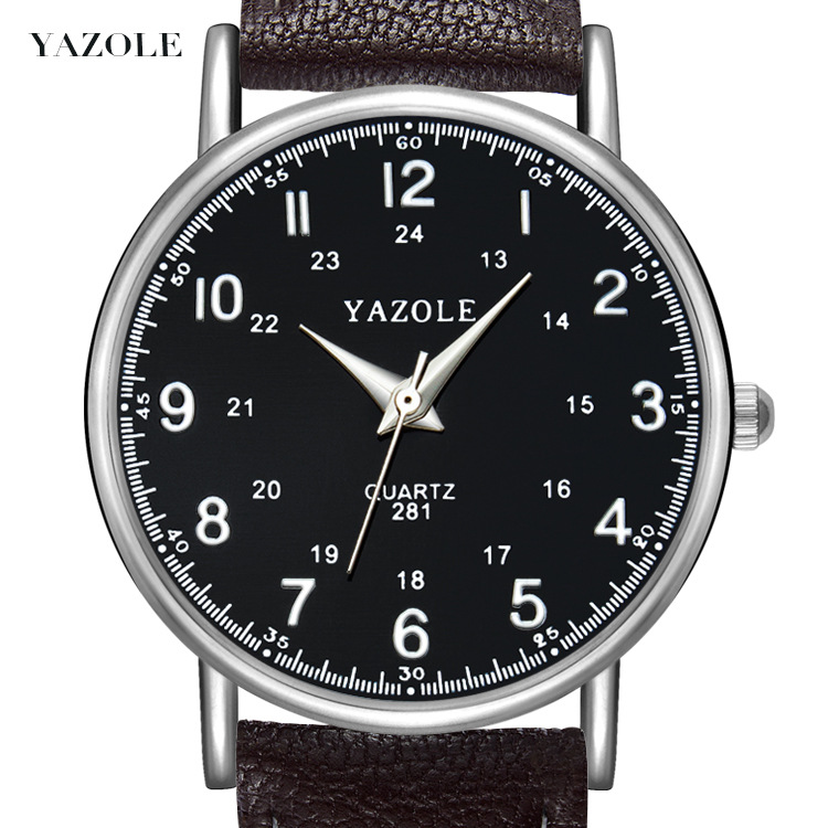 Yazole281 Pin Buckle Trend Korean Simple Retro Business Watch Wild Couple Quartz Watch Men And Women Watches