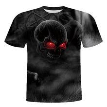 2018夏季新款欧美男女士3D短袖t恤印花个?#28304;?#24847;骷髅款式外贸批发