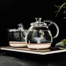 底部上水电热水壶消毒锅可搭配茶盘套装抽水加水电茶壶泡茶煮茶器