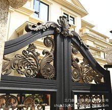 皇廷台州厂家定制铝艺大门别墅庭院电动大门 铝合金欧式庭院大门