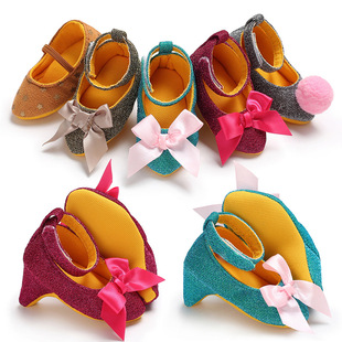 New spring and autumn 0-1 year old female baby shoes princess shoes baby high heels trendy toddler shoes