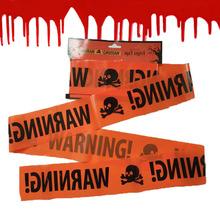 万圣节场景装饰布置道具 警示带隔离带 骷髅头磁带装饰道具厂家