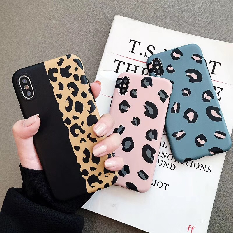 Ins Korean wind leopard print for Apple XsMax / XR mobile phone shell iPhone8plus all-inclusive anti-fall soft shell tide female
