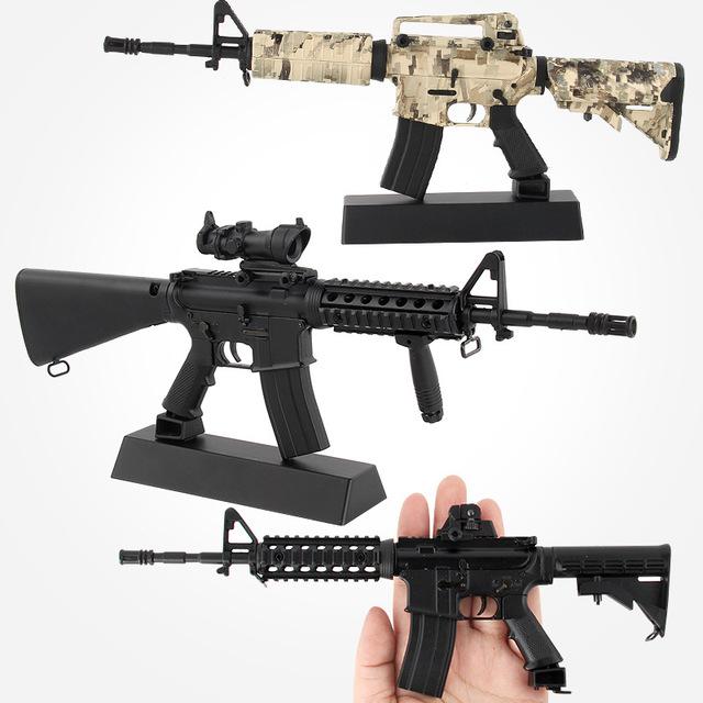 Amazon Hot Sale Mô phỏng Súng quân dụng Hợp kim Súng Mô hình Đồ chơi Lắp ráp có thể tháo rời Thu nhỏ 1: 3.5 Mô hình quân đội