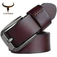 COWATHER商务休闲牛皮真皮时尚百搭男针扣腰带皮带 XF008