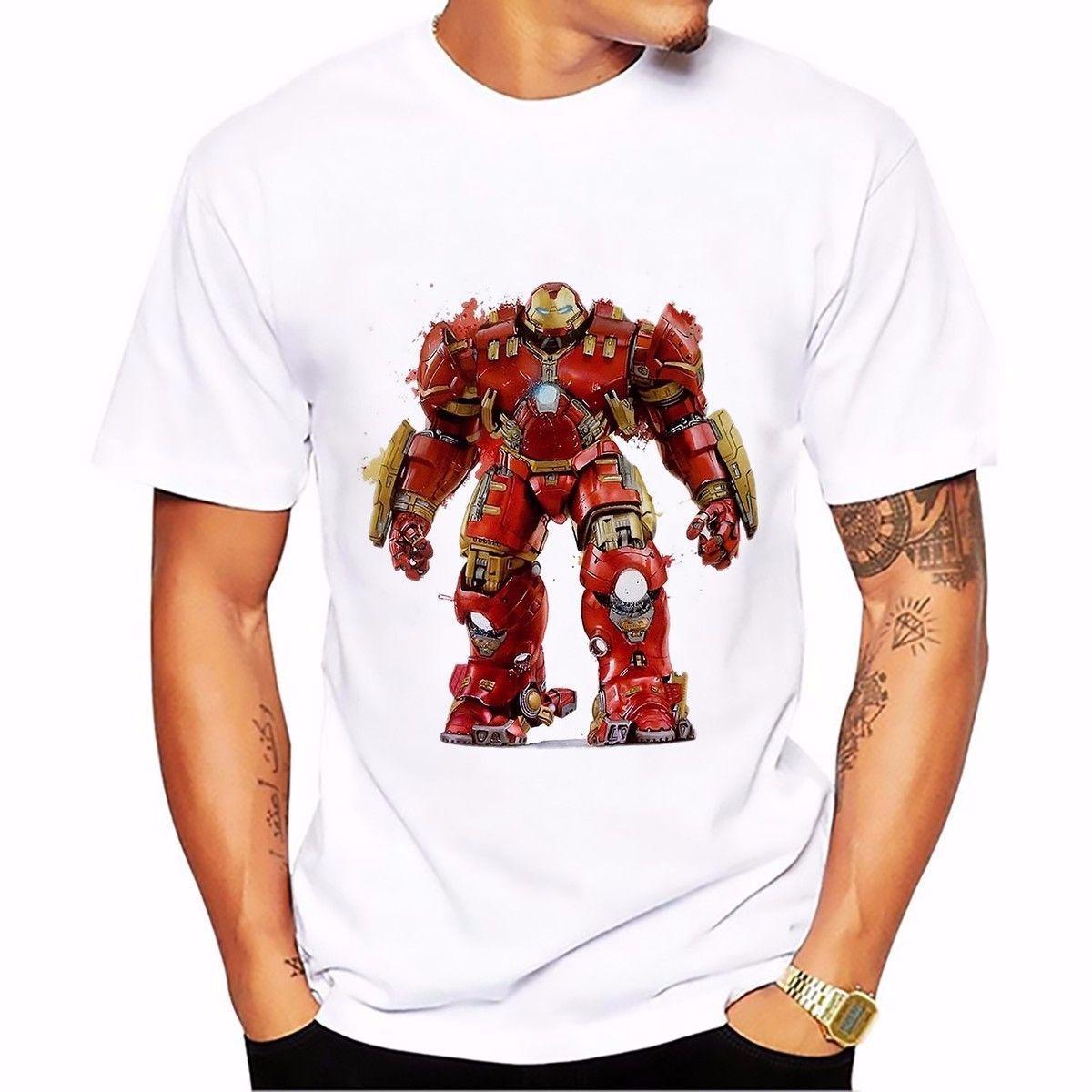 Features Diy T Shirt For Man Red Hood Symbol Batman Dc Comics Men Ironman Tees Mens Casual Tops Iron Hulkbuster Veronica 2018 Summer New