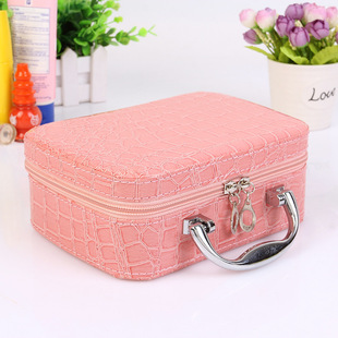 Korean version of the stone pattern portable cosmetic bag portable square storage box new storage cosmetic case gift gifts