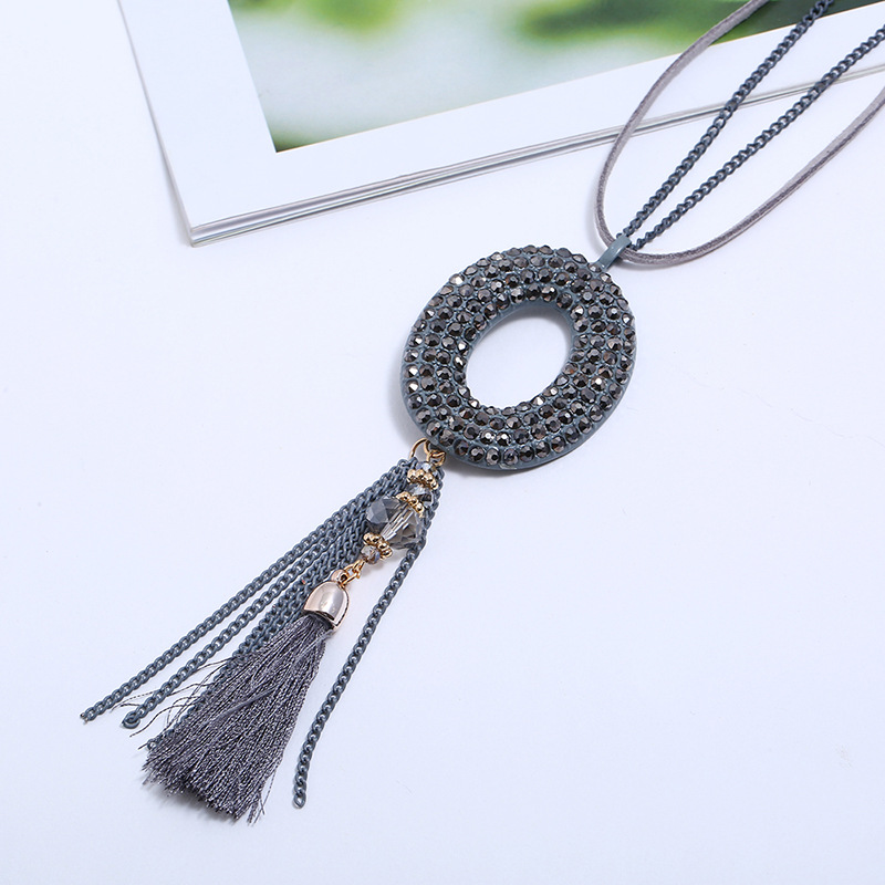Alloy Korea Geometric necklace  (black) NHPK2060-black