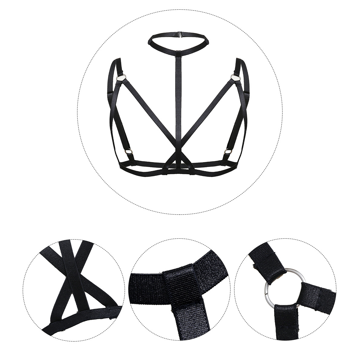 Alloy Simple Geometric Body accessories  One black 0360 NHXR2475Oneblack0360