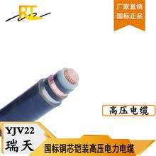 瑞天线缆厂家直销铜芯铠装高压电力电缆YJV2226/35KV电线电缆批发