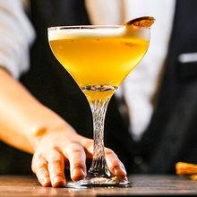 土耳其帕莎古典造型水晶雞尾酒杯香檳杯馬天尼杯特飲杯細螺旋腳杯