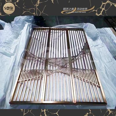 厂家直销不锈钢移动屏风 美观大方家具装饰屏风 不锈钢隔断