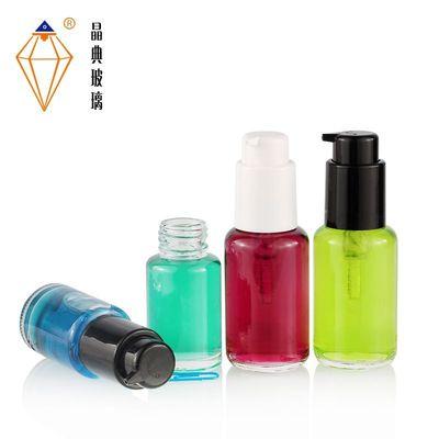 现货品牌V7液玻璃瓶子 50ml遮瑕BB霜瓶包材 30ml化妆品玻璃粉底瓶