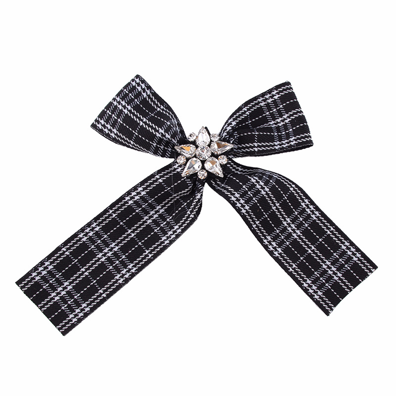 Alloy Fashion Bows brooch  (Red and white stripes) NHJQ9902-Red and white stripes