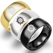 歐美熱銷戒指 太陽邪惡力量超自然戒指鈦鋼戒Supernatural