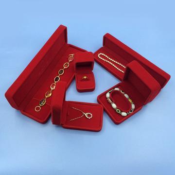 0利润供应绒布首饰套装盒 吊坠戒指盒子 手链项链包装盒定做