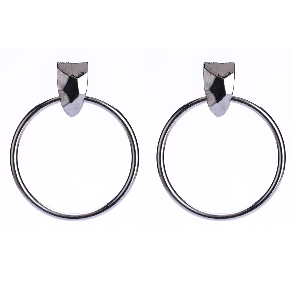 Alloy Fashion Geometric earring(Silver) NHJE1167-Silver