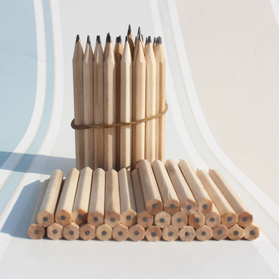 Factory direct selling short pencil 3.5 inch Hotel advertisement pencil customized children gift wooden wood environmental protection