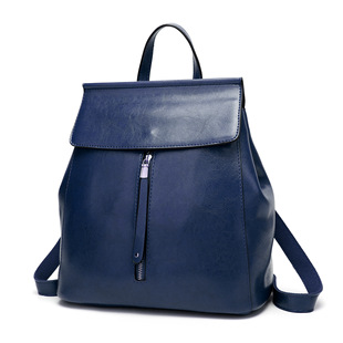 2020 backpack women's new casual women's bag all-match simple ladies bag fashion PU leather retro backpack