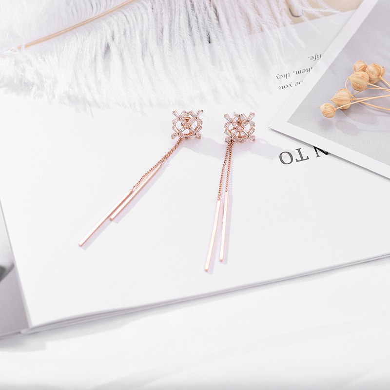Copper Fashion Tassel earring  (61189588)  Fine Jewelry NHXS2289-61189588