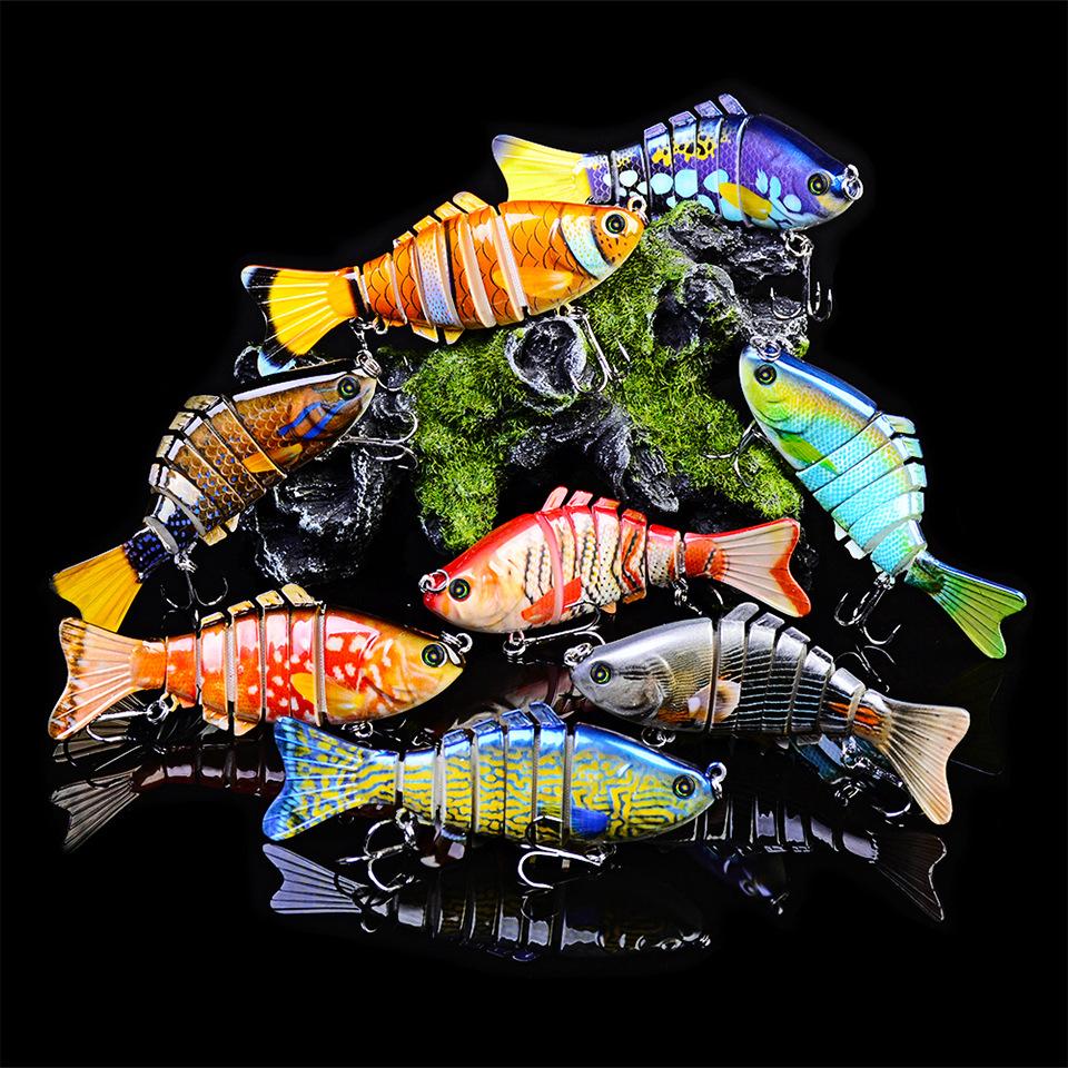 10 см 15 61 г приманки 6 сегментов Swimbait 4 вида цветов рыболовная приманка Морская HS033_01.jpg