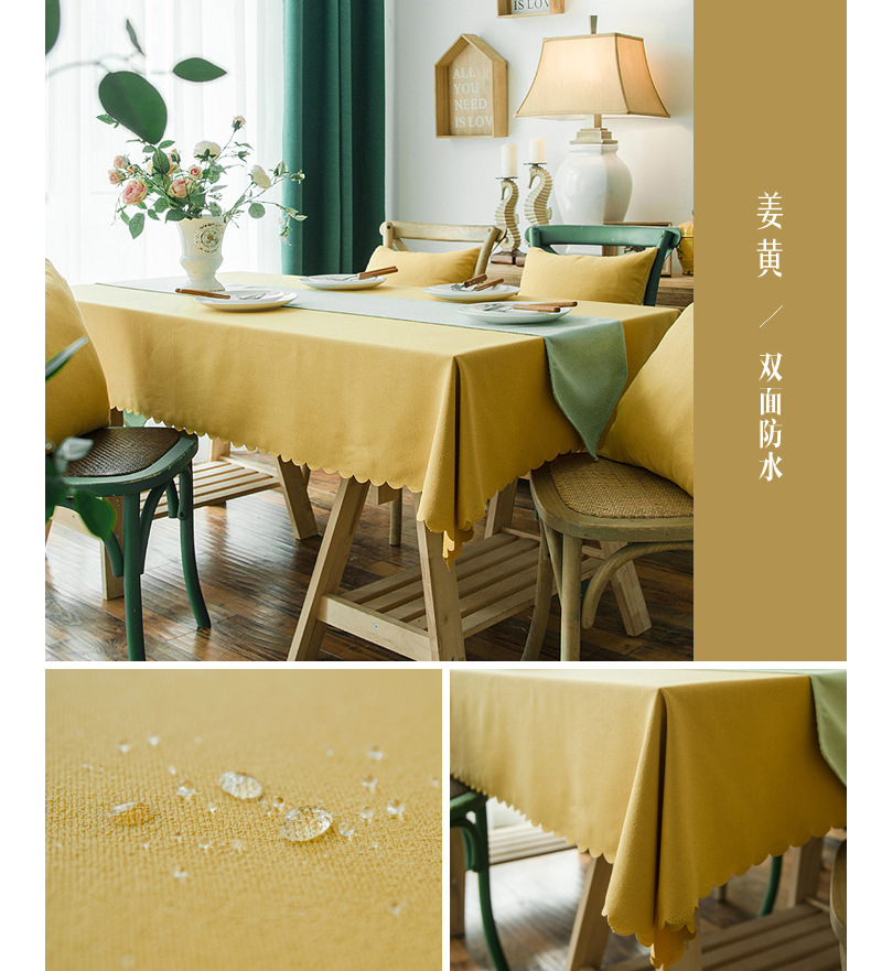 Fashion waterproof hibiscus tablecloth kitchen living room multi types NHSP134599