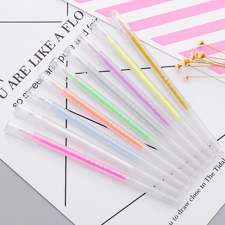 Hàn Quốc sinh viên văn phòng đơn giản trong suốt màu nước bút graffiti bút kim ống bút bút đặc biệt PDA văn phòng phẩm