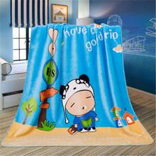 2018秋冬新款兒童珊瑚絨毛毯 法蘭絨單層卡通保暖小毯子工廠直供