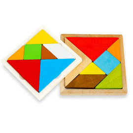 Children's puzzle early education toys Wooden magnetic colorful jigsaw puzzles Develop intellectual puzzle pieces