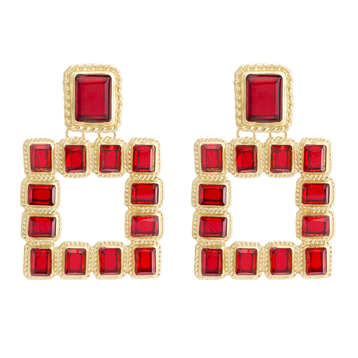 Alloy Fashion Geometric earring  (color) NHJE1985-color