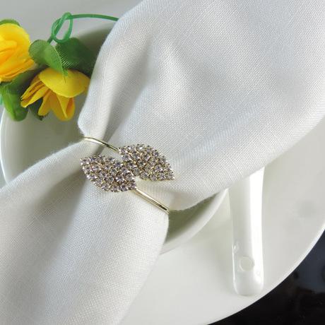 Khách sạn tiệc bán buôn đưa Đài Loan Futaba cỏ khăn ăn khăn ăn vòng khóa vòng khăn ăn nguồn cung cấp đám cưới ghế vòng khăn Thiết bị khách sạn
