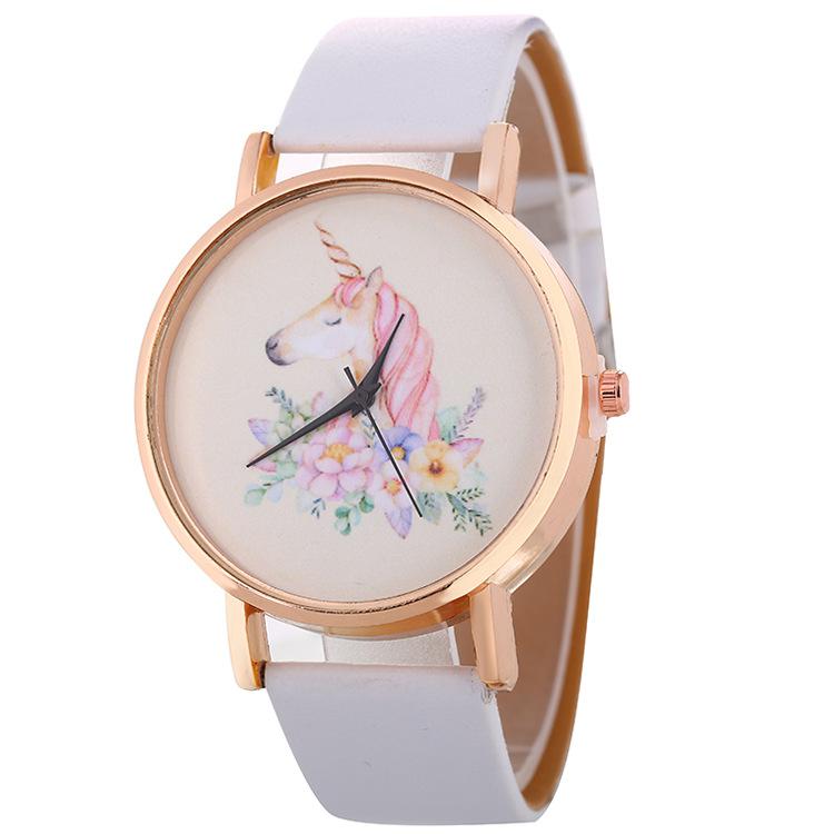 独角兽热销爆款罗马刻度金壳女士腕表 流行新款欧美学生礼品手表