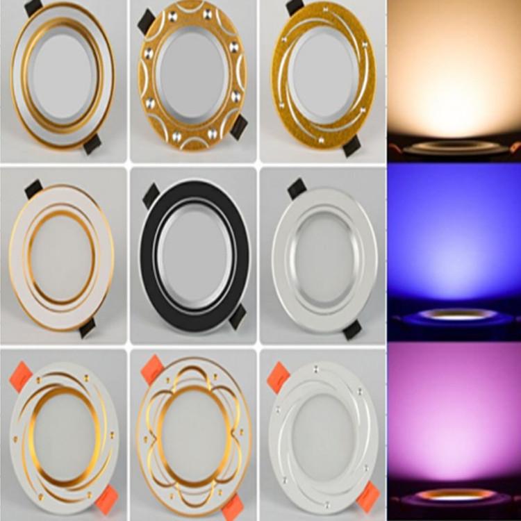 led筒灯天花灯嵌入式射灯变光三色LED孔灯开孔7.5 6寸4寸3寸2.5寸