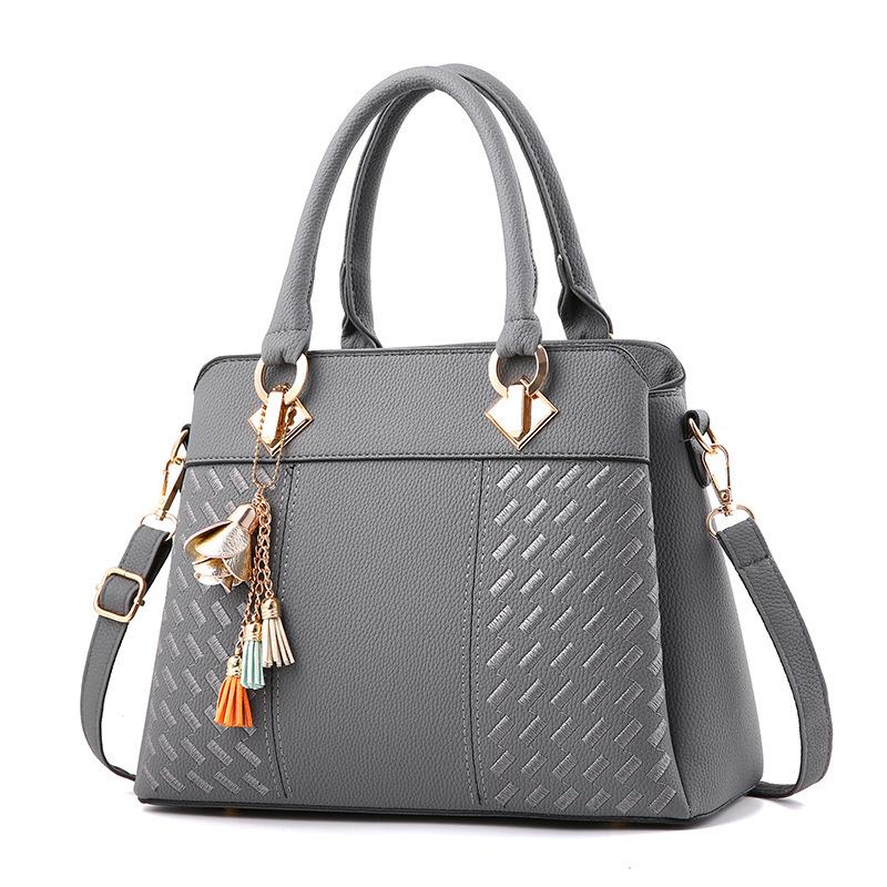 2019潮新款包包欧美时尚百搭女包简约单肩手提包一件代发包包bags