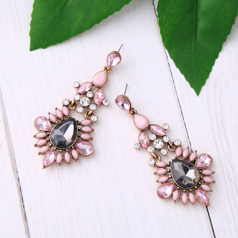 Alloy Fashion Geometric earring(Photo Color) NHQD5192-Photo Color
