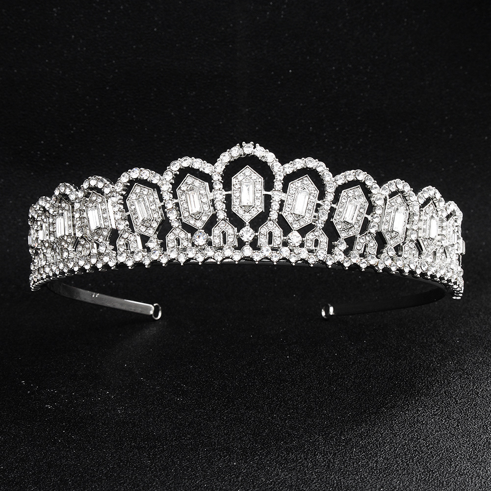 Imitated crystal&CZ Fashion Geometric Hair accessories  (Alloy) NHHS0620-Alloy